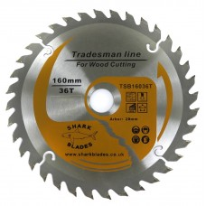 Tradesman Line TCT Circular Saw Blade 160mm 36 Teeth