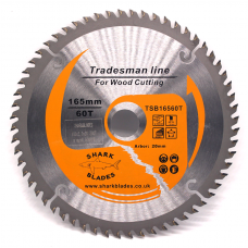 Tradesman Line TCT Circular Saw Blade 165mm 60 Teeth